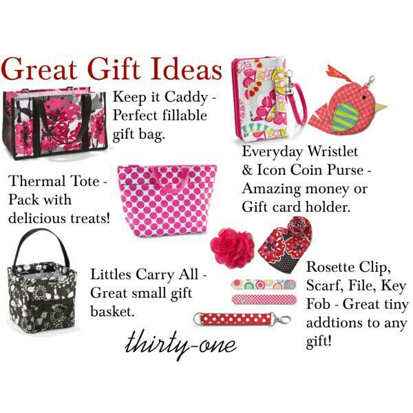 Gift ideas with Thirty One.