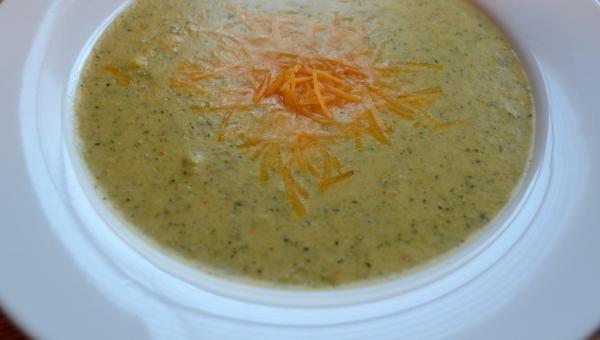 Homemade Broccoli & Cheddar Soup | Kiss The Cook | Pinterest