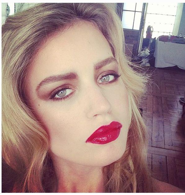 Georgia may jagger model glam lip gloss mane toss pinterest