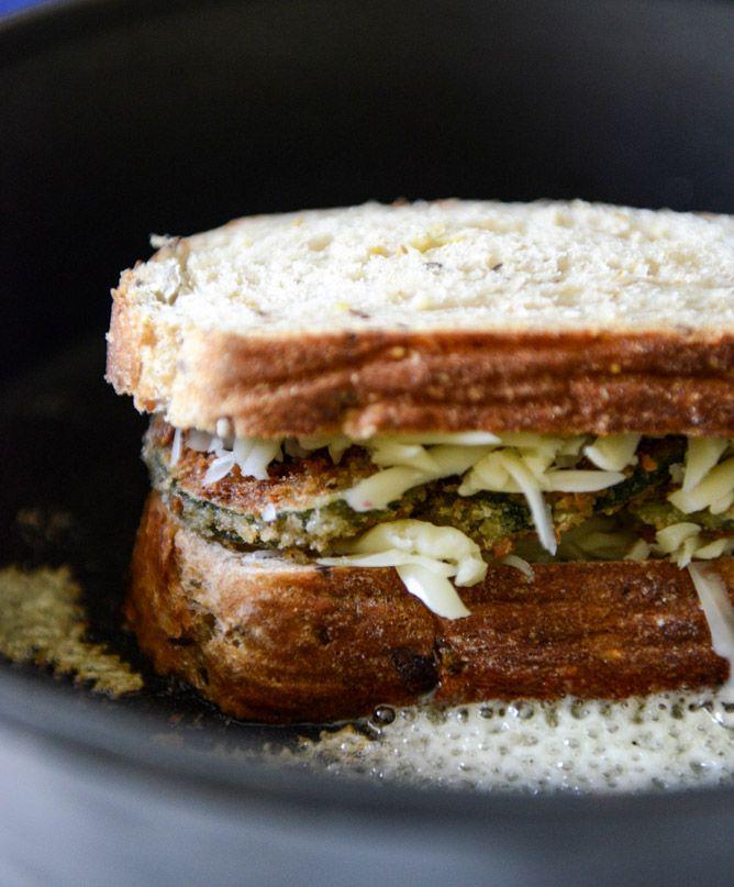 crispy zucchini grilled cheese with dijon horseradish aioli // how ...