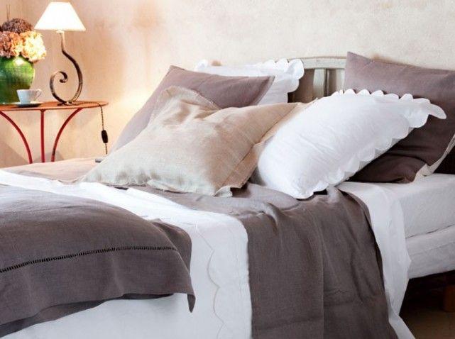 Linge de lit en lin my inspiration pinterest for Linge de maison lin