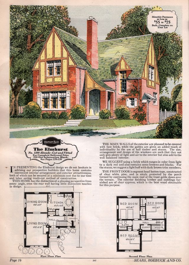 Sears 1929 And 1930 Modern Homes Image Houses By Mail