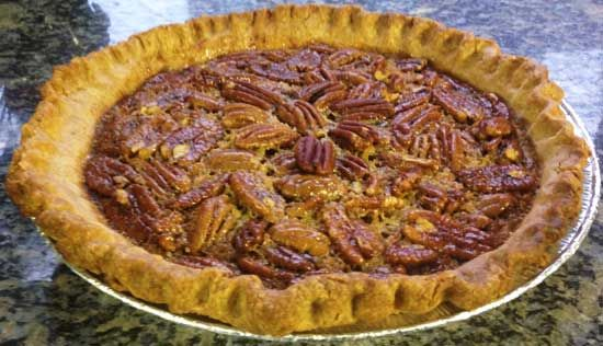 ... pecan pie made with brown rice syrup and maple syrup, with a whole
