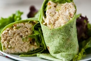 Curried Peach Chicken Salad | healthy, yummy recipes | Pinterest