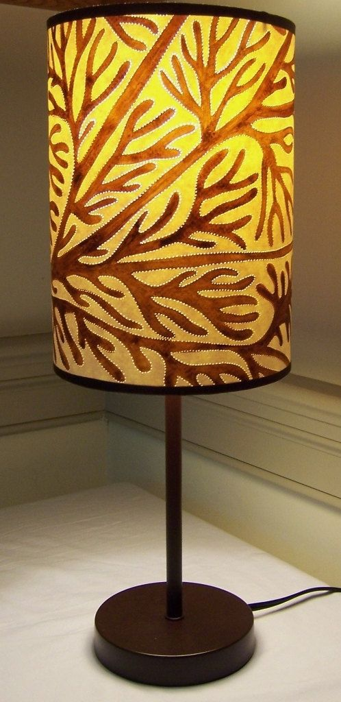 soothing tree of life tall skinny drum lamp shade no lamp. Black Bedroom Furniture Sets. Home Design Ideas
