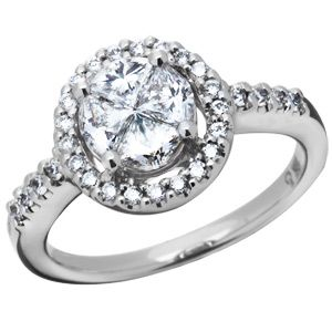 01 Carat 18kt White Gold Quattour for Amoro Diamond Ring $3,150.00