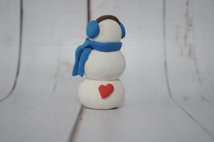 back of snowman-mini heart :) | Msapple creations | Pinterest