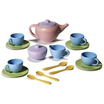 Oh So Adorable Vintage Tea Set : Green Toys Tea Set-awww, so cute!  Toddler Learning and Motor Skills ...