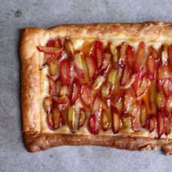 This rhubarb tart with orange glaze is the perfect easy and elegant ...
