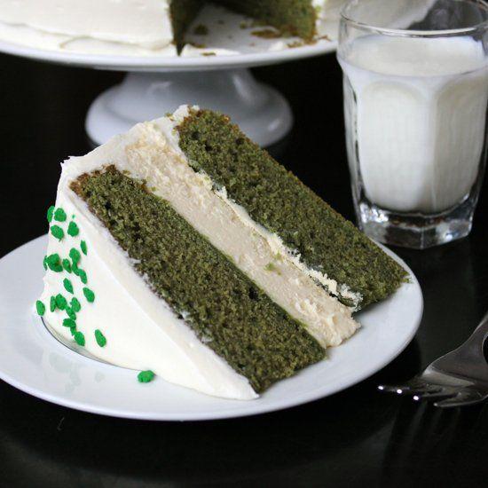 Green Velvet Baileys Cheesecake Cake - An entire Baileys Cheesecake ...
