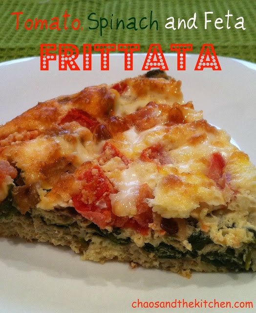Chaos and the Kitchen: Tomato, Spinach and Feta Frittata