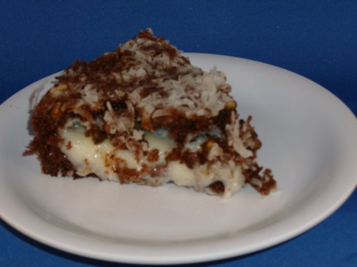German Chocolate Upside Down Cake | Sun Oven | Pinterest