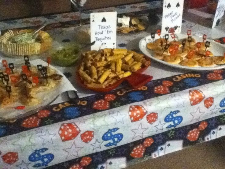 Casino themed birthday party food