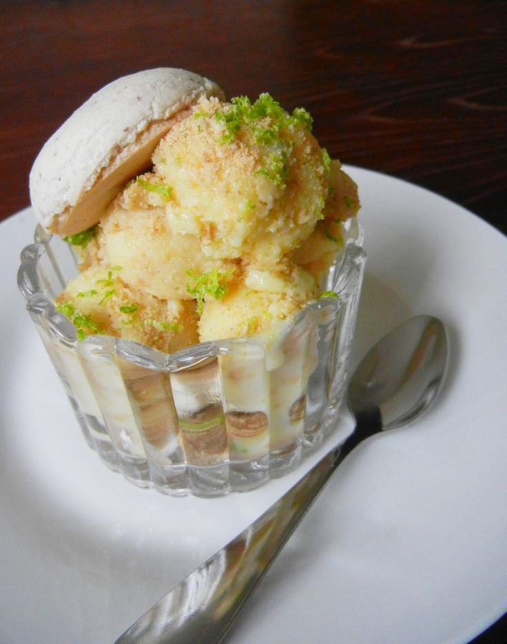 Lime & Ginger Gelato and Graham cracker swirl, topped with French ...