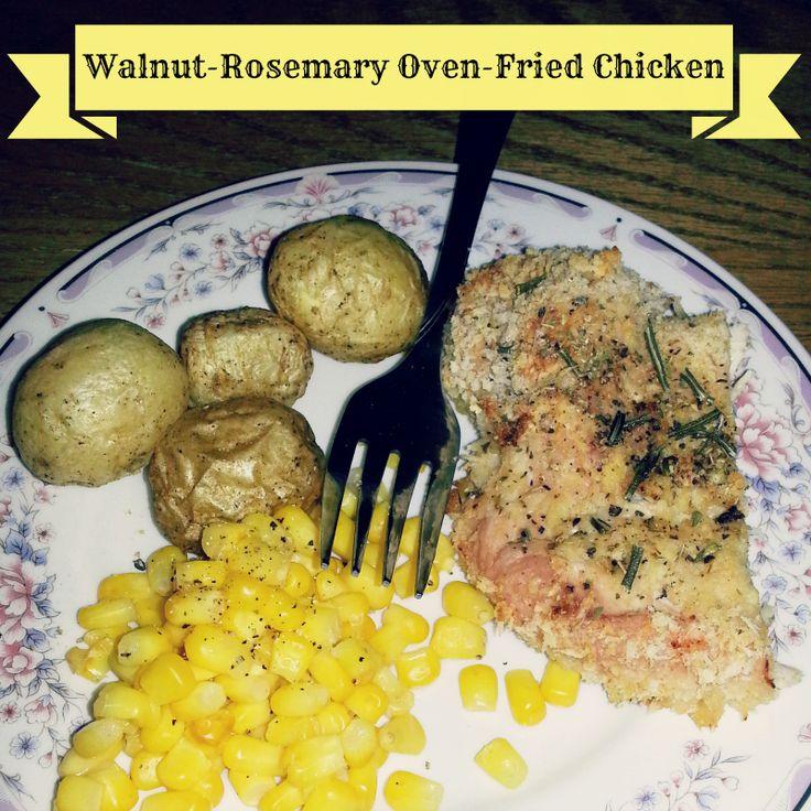Recipe: Walnut-Rosemary Oven-Fried Chicken