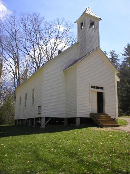 Cades Cove Missionary Baptist Church in Great Smoky Mountains National Park...(This Church was started in 1839, from a group that split from the Primitive Baptist Church, over the issue of Missionary Work!