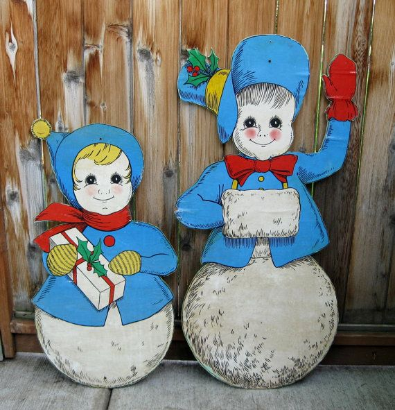 Wooden snowman yard art christmas lawn ornaments holiday decor for Holiday yard decorations patterns