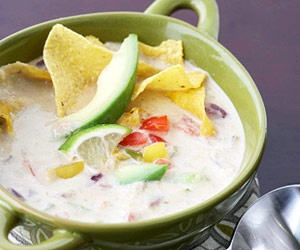 guacamole soup-Top this appetizer soup with cooked shrimp for a ...