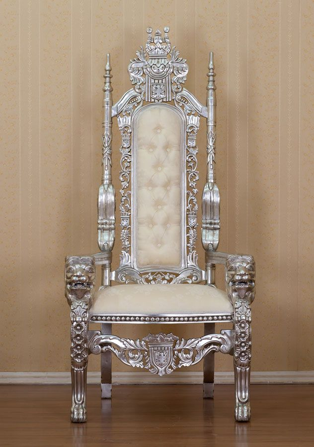 And queen chairs on pinterest throne chair king chair and chairs - Silver Kings Throne Royal Pinterest