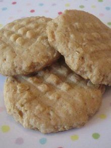 Peanut Butter Oatmeal Cookies (no sugar, uses agave nectar or honey)