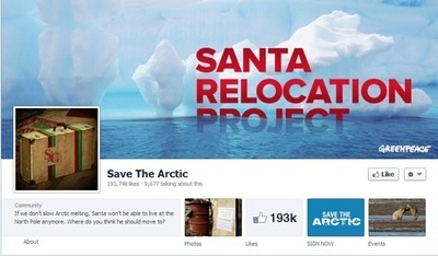 Greenpeace Tackles Global Warming with 'Santa Relocation Project'