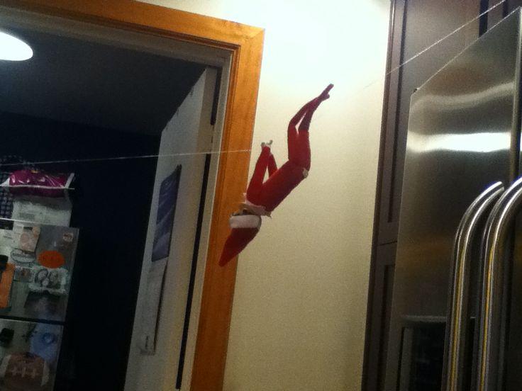 Crazy elf on the shelf | Elfs | Pinterest