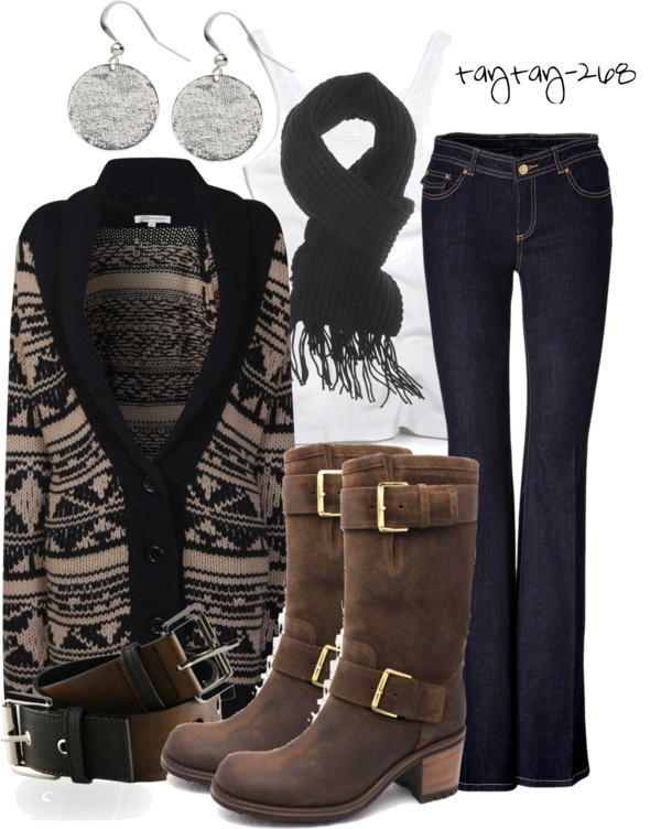"""Black & Brown"" by taytay-268 on Polyvore"