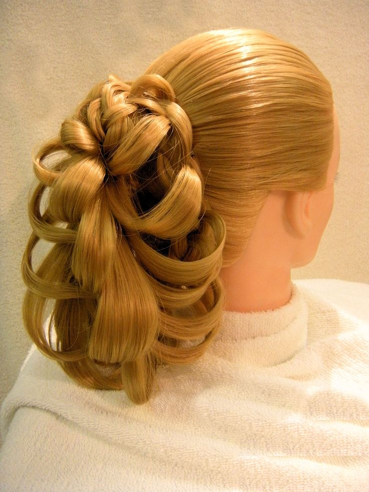 Hair Style Joda : Butterfly Angel Ponytail Braid penteado Pinterest