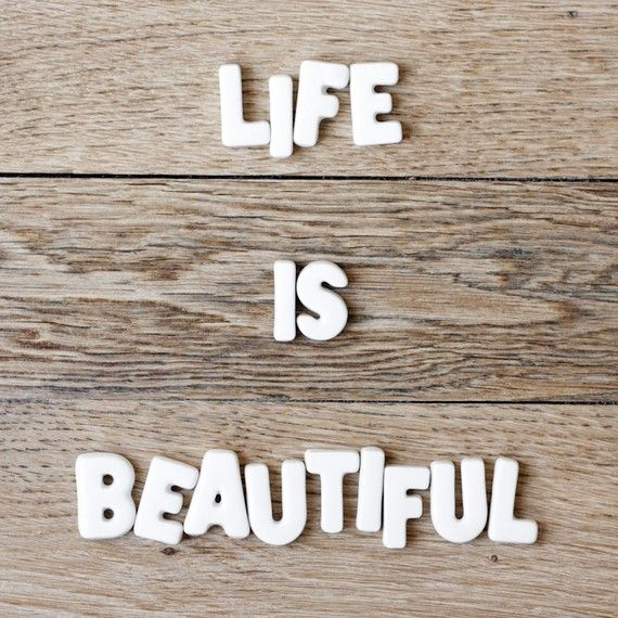 Life is beautiful typography photography print 8x8 by magalerie, $25.00
