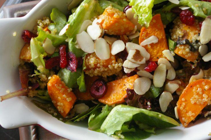 sweet potato quinoa cranberry salad   No meat recipes   Pinterest