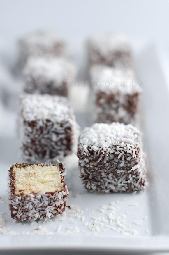 lamingtons- Lamingtons are basically little sponge cakes in the shape ...