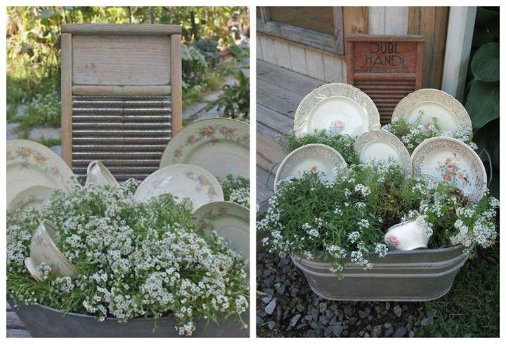 Wash tub planter washtub wonders pinterest for Old wash tub planters