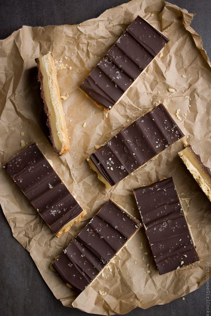 Chocolate-Caramel Shortbread Bars. | cookies | Pinterest