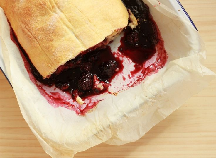 Blackberry Roly Poly Pudding Recipe // TheSugarHit.com