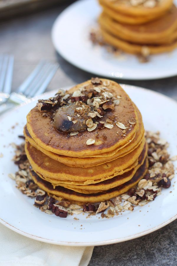 Pumpkin Pancakes with Brown Butter and Pecan Streusel 6