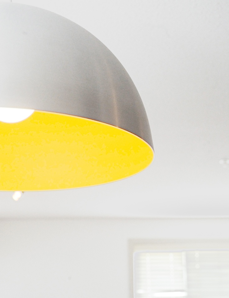 yellow large scale pendant light j a great room pinterest