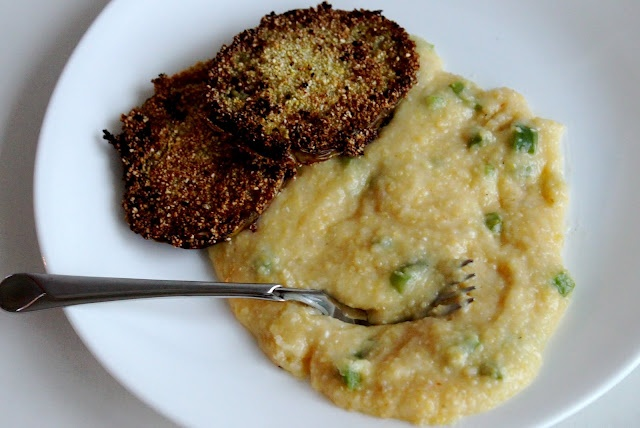 Fried Green Tomatoes + Spicy Grits | Recipes to Try | Pinterest