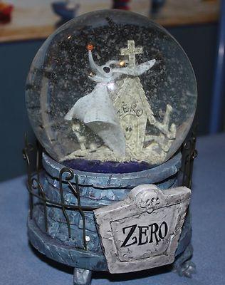 Nightmare Before Christmas Zero Musical Snow Globe | eBay