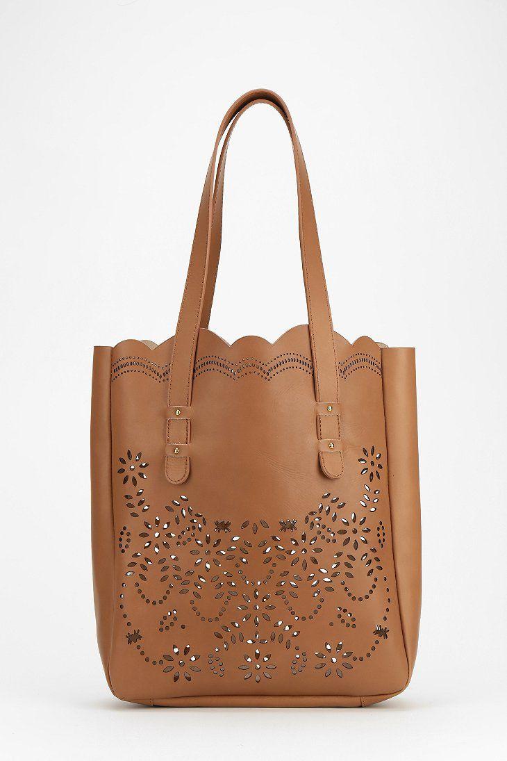 Kimchi Blue Sophia Lasercut Tote Bag urban outfitters