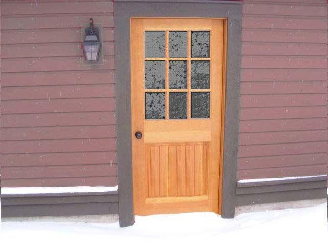 Custom 9 lite entry door doors pinterest for 9 lite exterior door