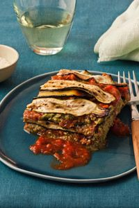 roasted zucchini no noodle lasagne...(could easily sub other roasted ...