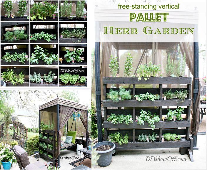 Diy pallet herb garden garden pinterest for Diy pallet herb garden