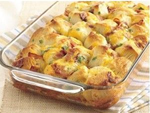 cooked pull-apart bacon cheese   Breads/Muffins   Pinterest