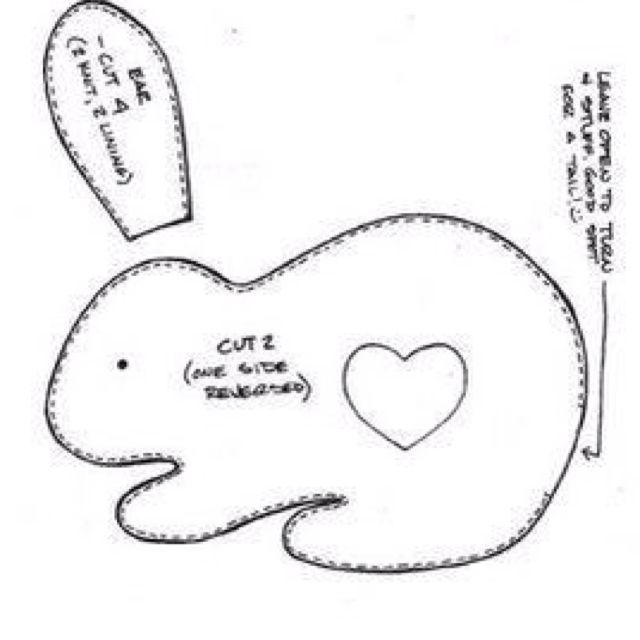Кролики своими руками из ткани выкройки 63