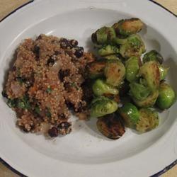 ... carrots, raisins, and pie spice til onion is golden, 5 min. Add quinoa