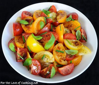 ... of Cooking » Tomato Salad with Fresh Herbs and a Balsamic Reduction