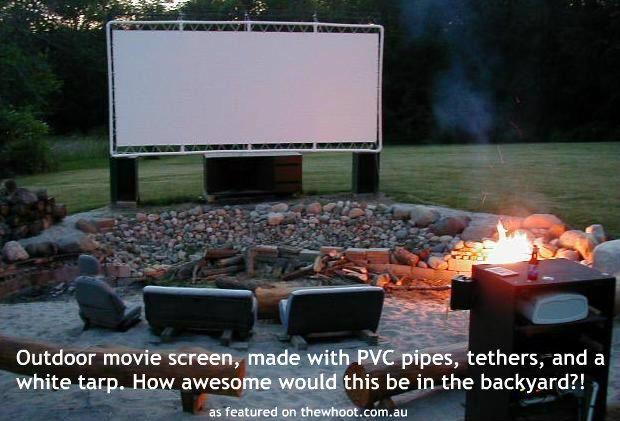 Outdoor movie theatre diy pinterest