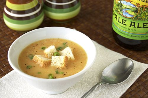 Cheddar Ale Soup 11/7/12: it wasn't what I was hoping for. A little ...