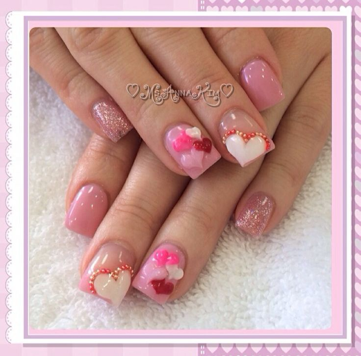 valentine gelish nails
