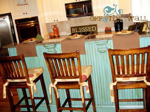 small turquoise island  Kitchens  Pinterest